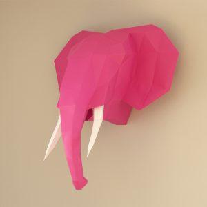 www.papiertier.de Tembo Elefant