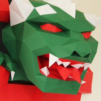 Papiertier Bastelbogen Ewall Monster
