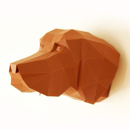Papiertier Bastelbogen Hundekopf