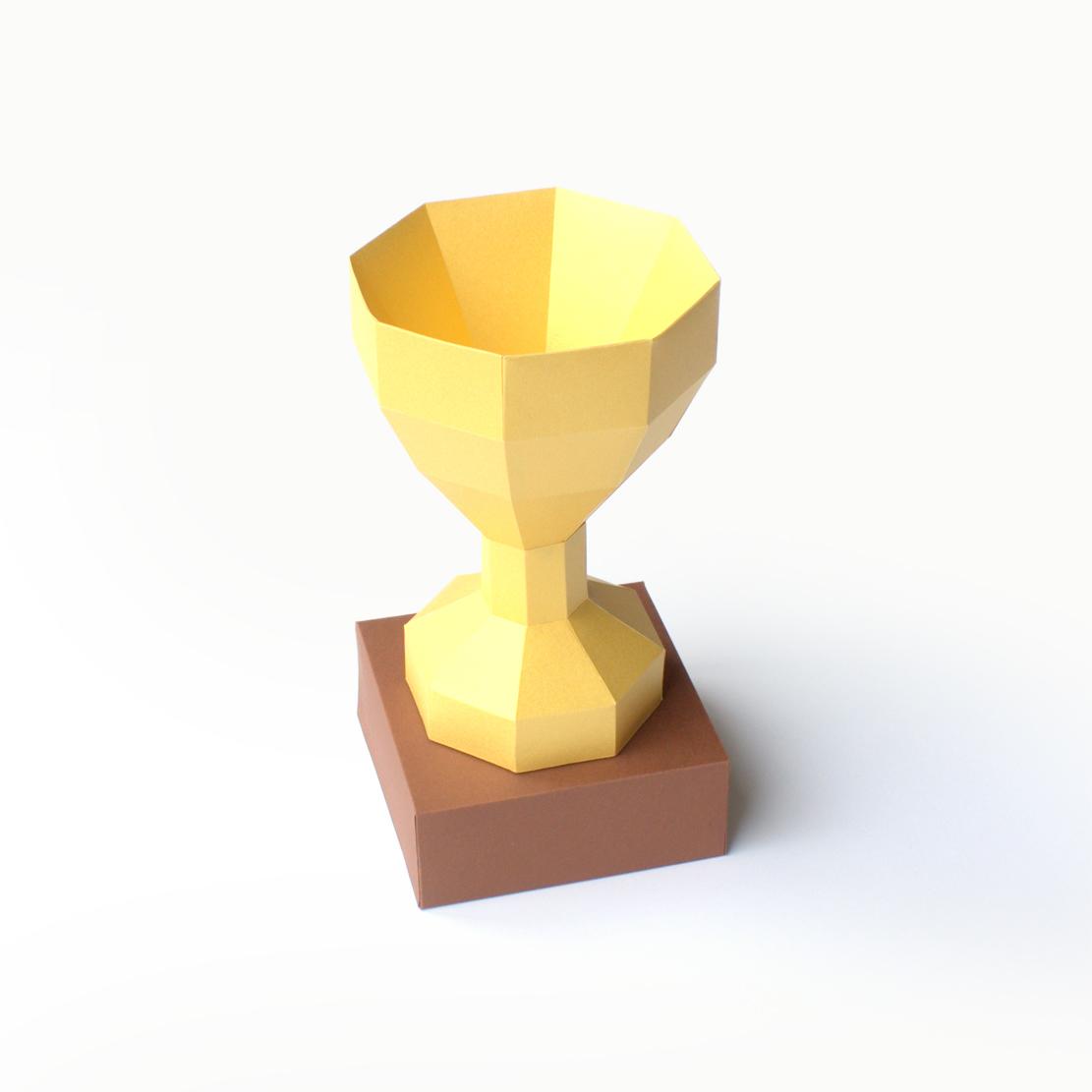 Pokal Bastelbogen Winner